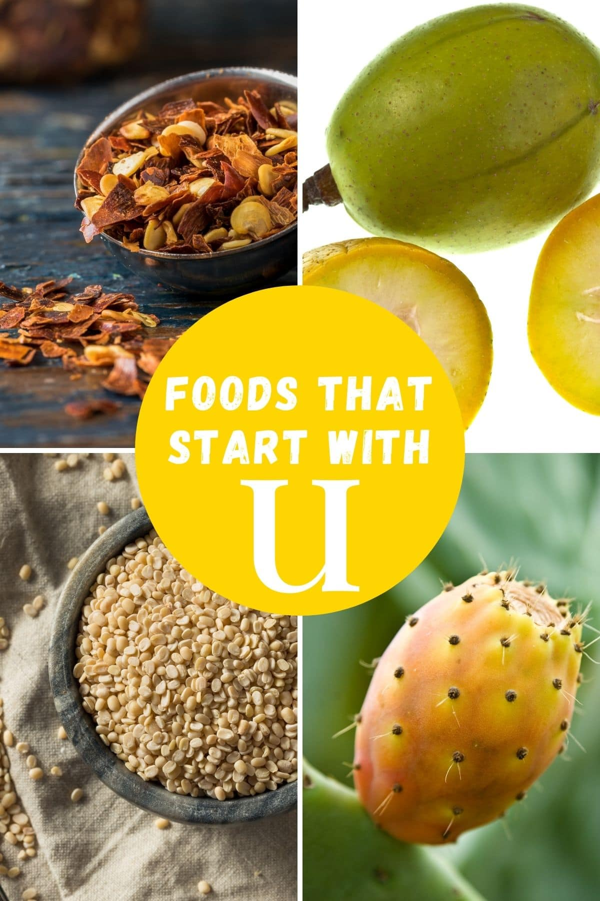 foods beginning with the letter U