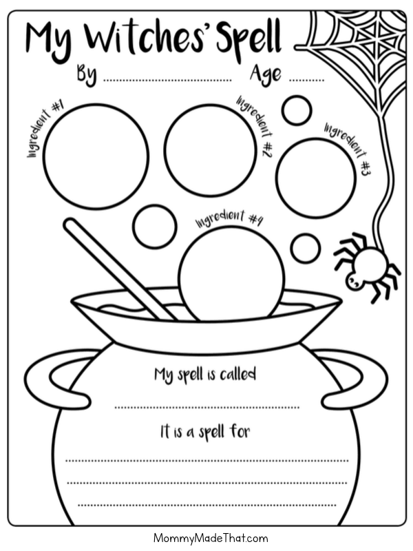 fun witches spell activity for kids