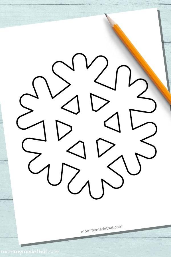 Large snowflake template