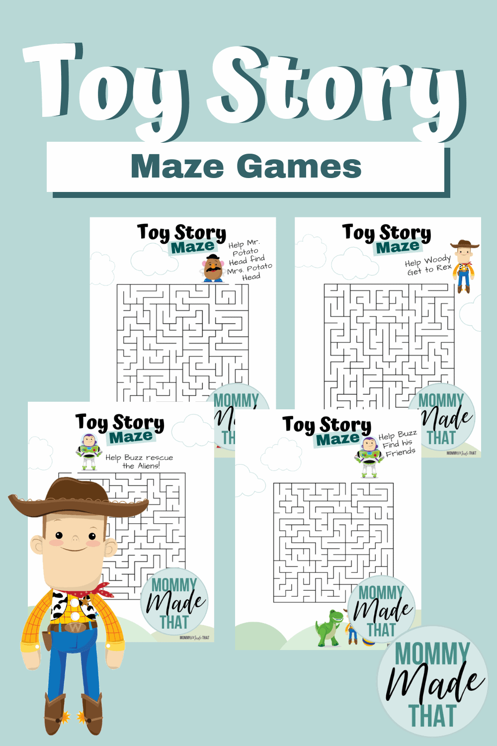 Fun Toy Story Printable Maze Games