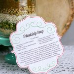 Friendship soup mix in a jar with a printable gift tag