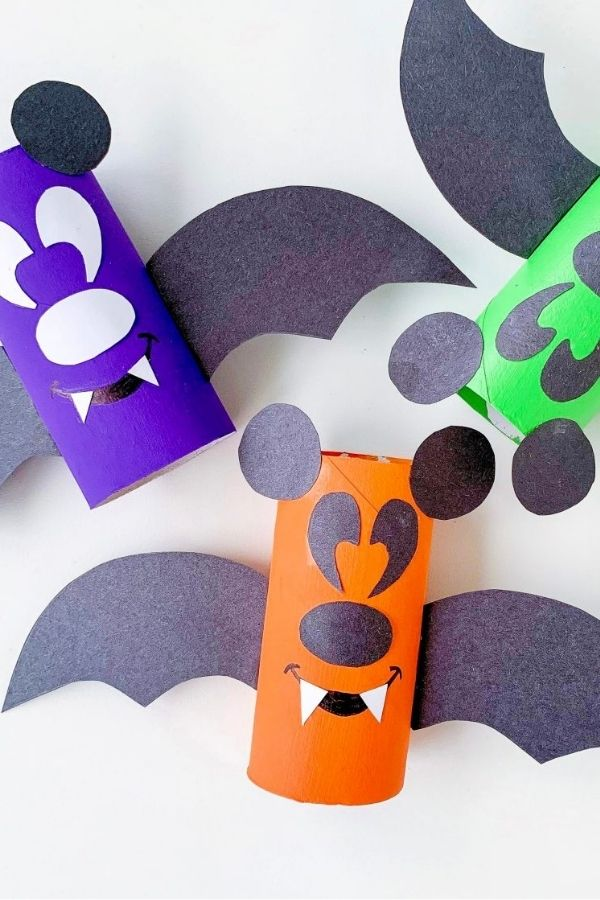 Mickey bat Halloween craft for kids