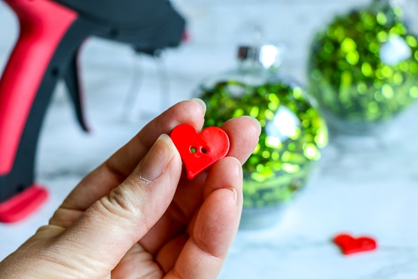 grinch christmas ornaments with red heart