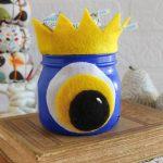 Halloween mason jar monster craft
