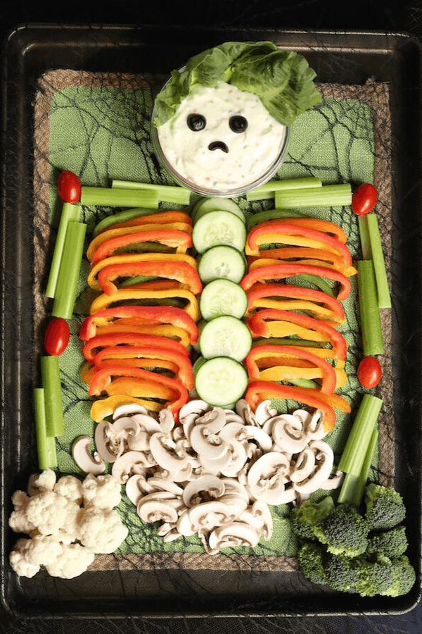 veggie tray for halloween party
