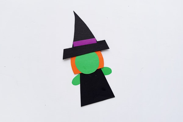 paper halloween witch