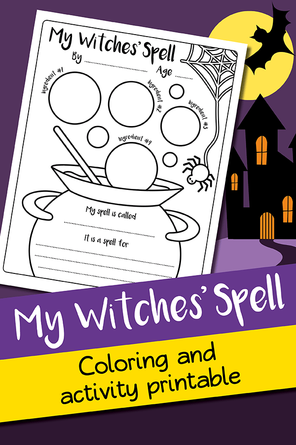 free witches spell printable
