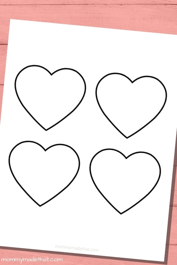 medium heart template printable that can be used for crafts or as a heart stencil