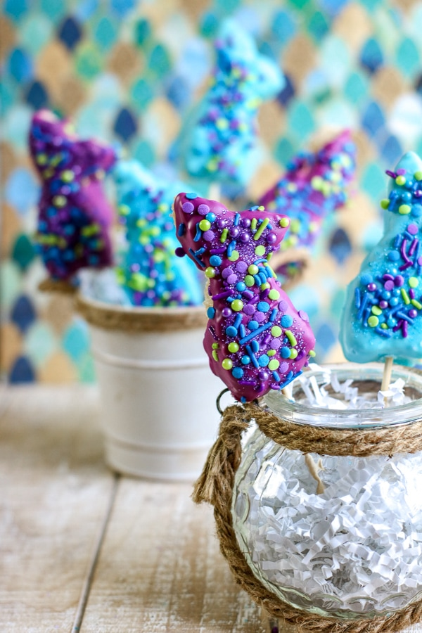 how to make mermaid rice krispie treats