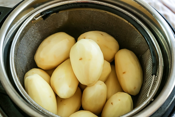 peeled potatoes sitting in instant pot