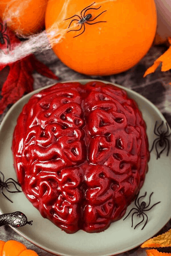 jello brain party food