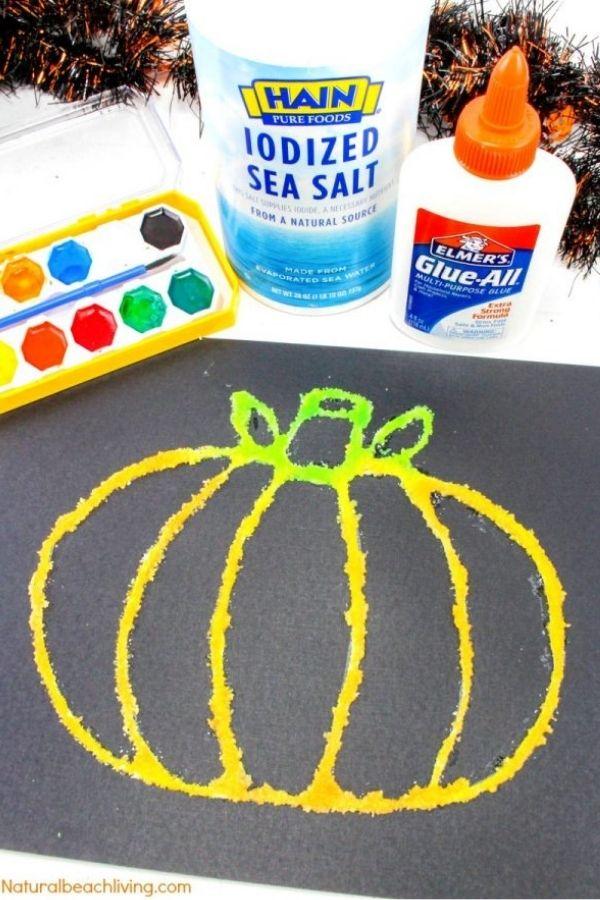 pumpkin halloween craft for kids