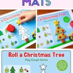 Printable play dough mats for christmas