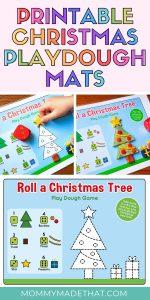 Printable play dough mats for christmas