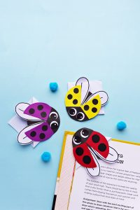 ladybug bookmark craft