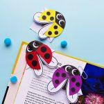DIY Ladybug bookmarks