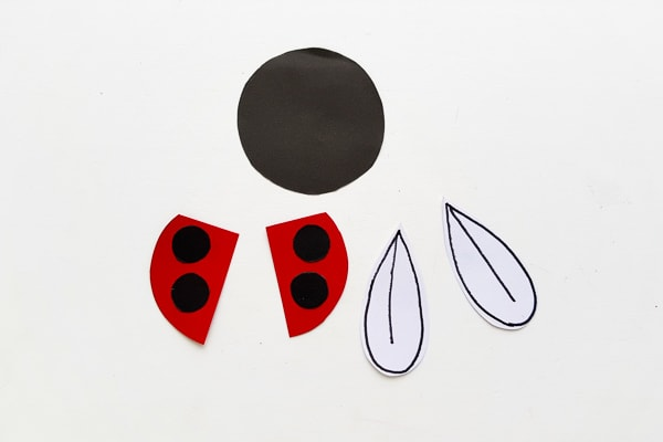 ladybug bookmark pieces