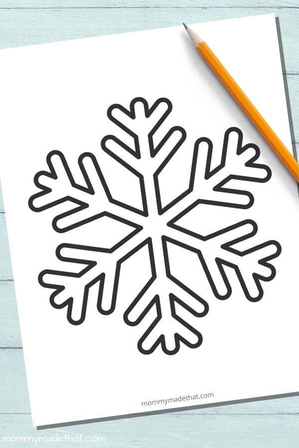 Large snowflake template free printable