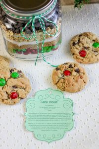 M&M cookie mix mason jar gift