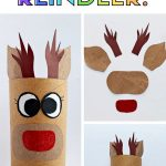 make rudolphe from toilet paper roll