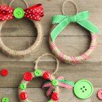 DIY wreath christmas ornament