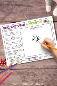 make your own monster game for kids