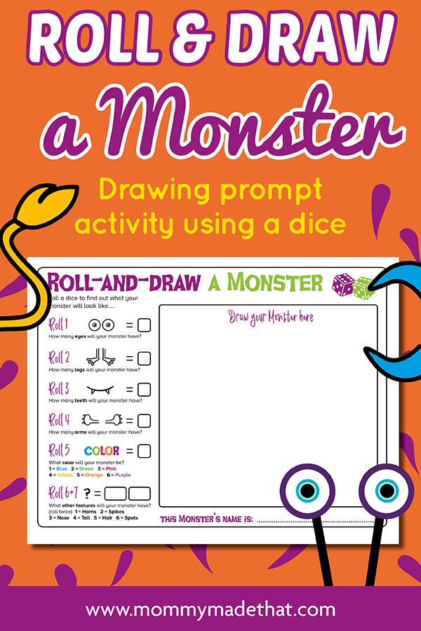 Make your own monster game for kids, free printable