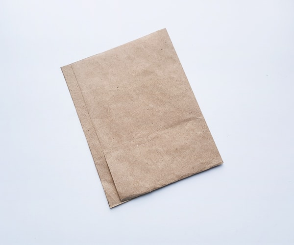 making a brown bag turkey craft step 2