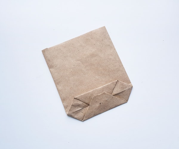 making paper bag turkey craft step 7