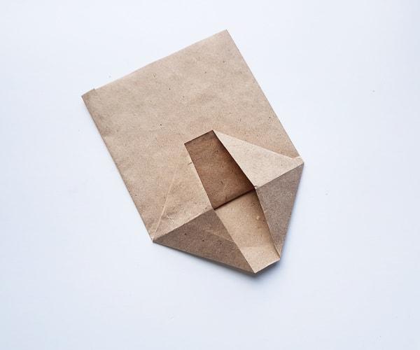 making paper bag turkey body step 5