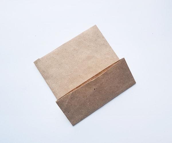 making a paper bag turkey craft step 4