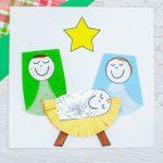 Christmas manger craft