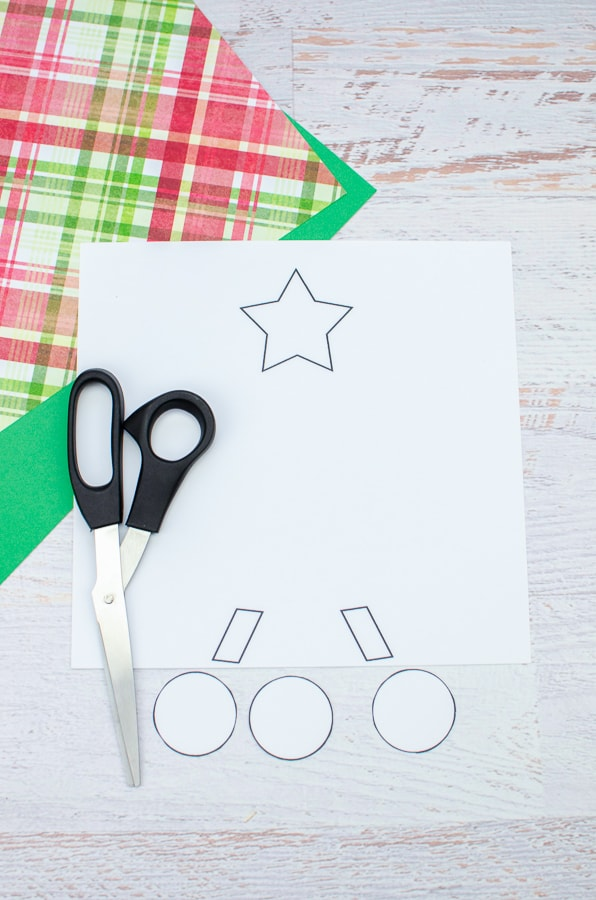 cutting out pieces of manger craft printable template