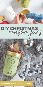 Painted mason jars for chirstmas gifts