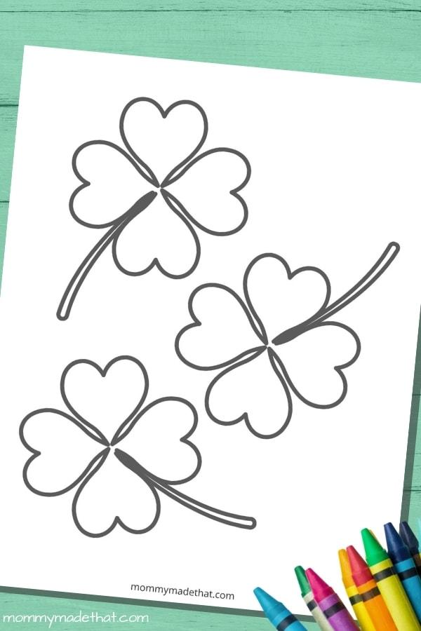 medium four leaf clover template