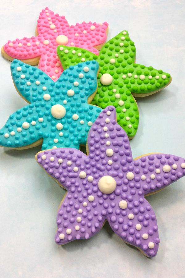 mermaid star fish cookies tutorial
