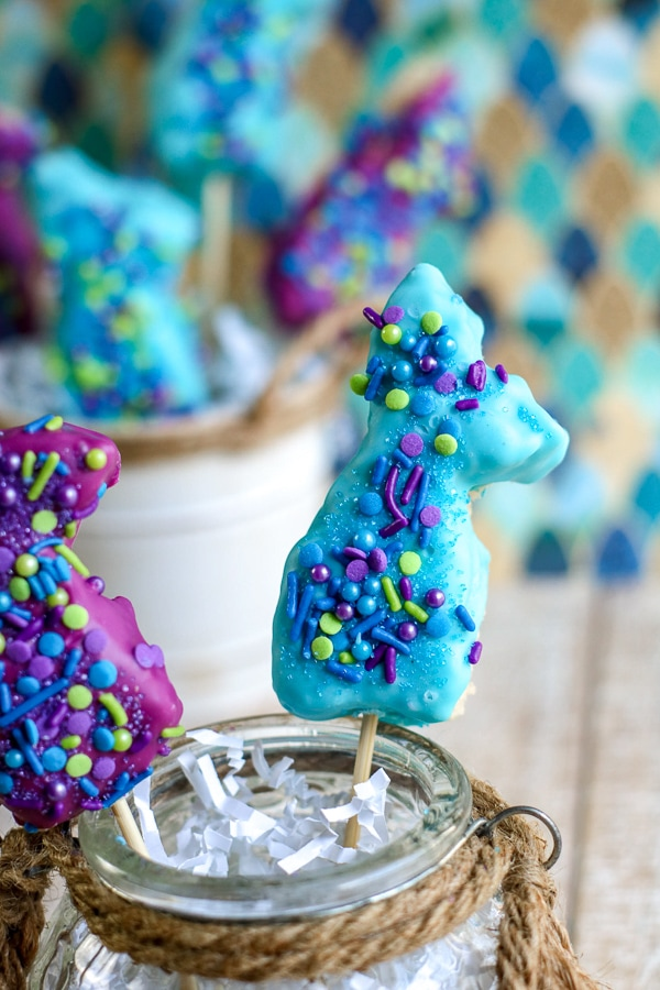 mermaid tail rice krispie treats