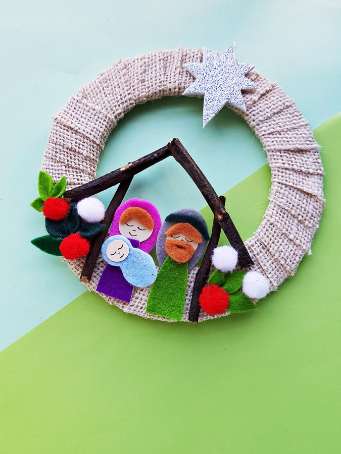 Nativity felt craft for kids