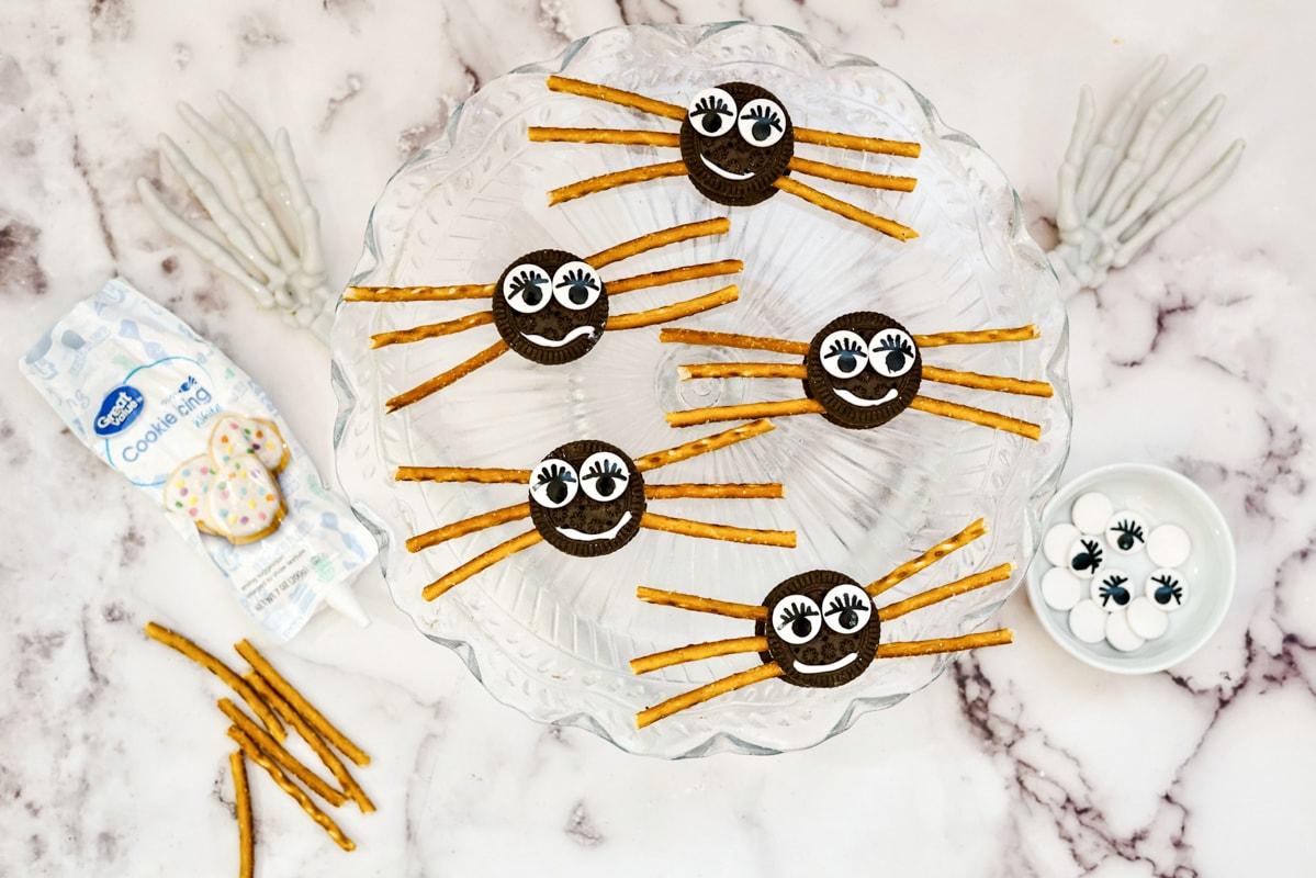 Happy Halloween Spider Cookies