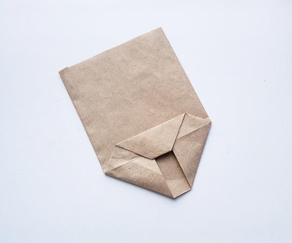 paper bag turkey craft step 6