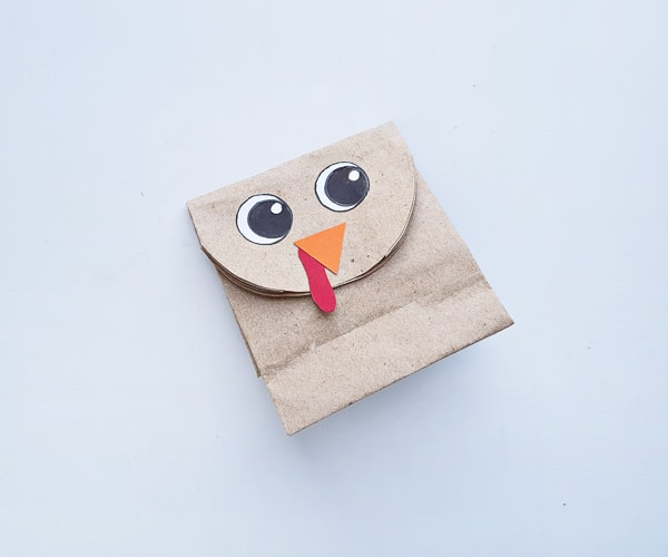 paper bag turkey kids craft