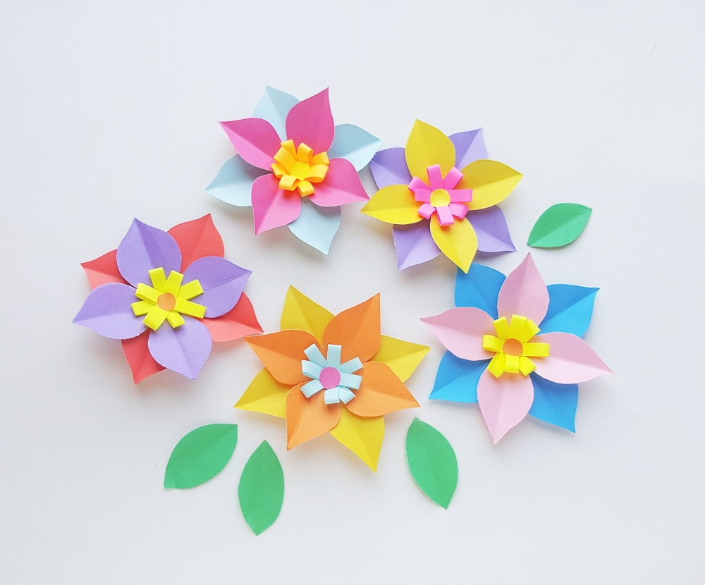 paper flower wreath tutorial diy