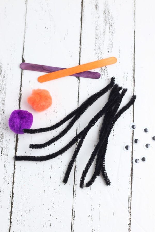 paper plate spider craft supplies