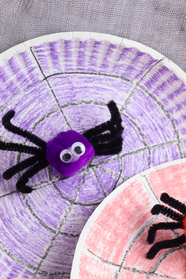 kids paper plate spider craft for halloween