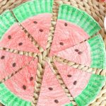 east watermelon paper plate craft