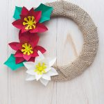 paper poinsettia wreath