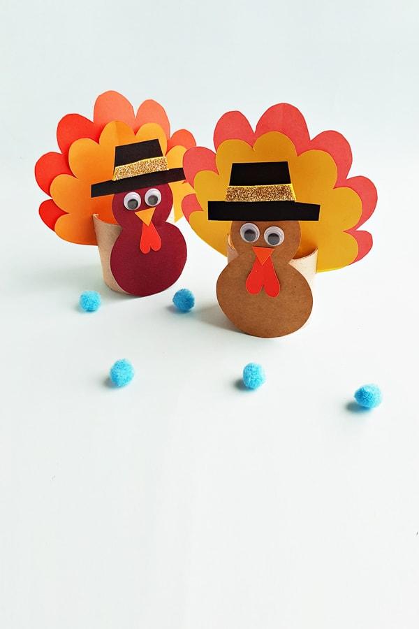 paper roll turkey craft