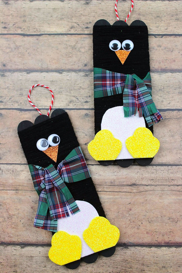 penguin popsicle stick craft