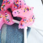 Pink Unicorn Lollipops