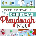 Free printable playdoh mat for christmas